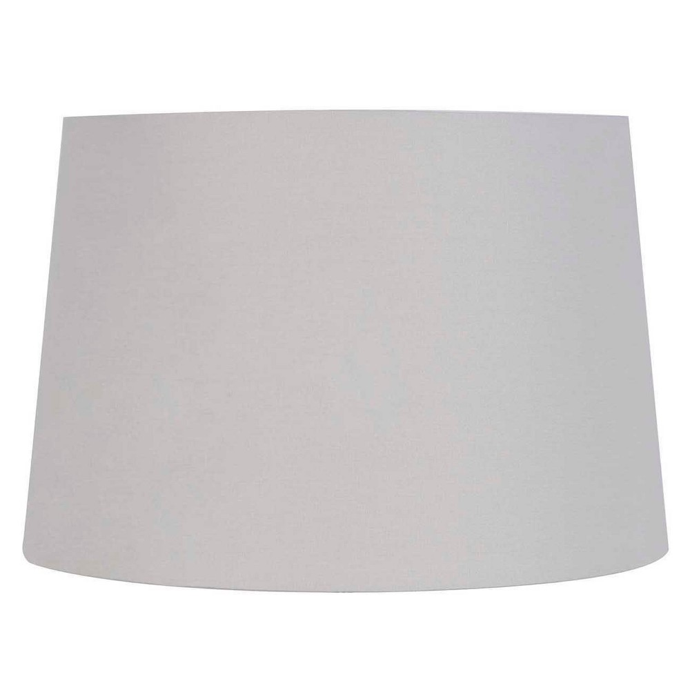 Large Light Mod Drum Lampshade Gray - Threshold