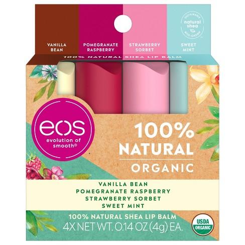 eos Natural Organic Lip Balm Sticks - Variety Pack - 4pk - image 1 of 4