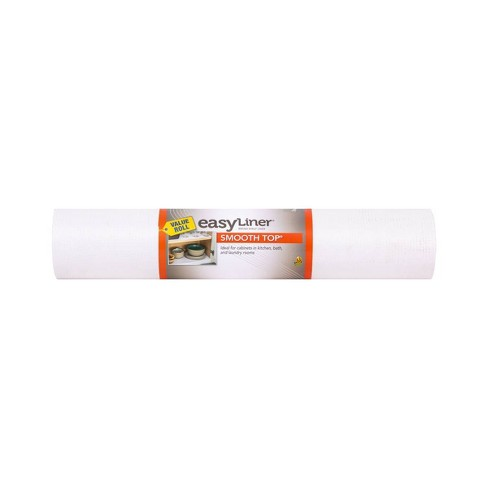 Duck Smooth Top Easyliner Non Adhesive Shelf Liner For Kitchen Cabinets 20 X 24 White Target