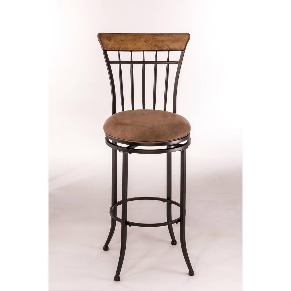Marvelous Charleston Swivel 26 Counter Stool Metaldesert Tan Wood Pabps2019 Chair Design Images Pabps2019Com