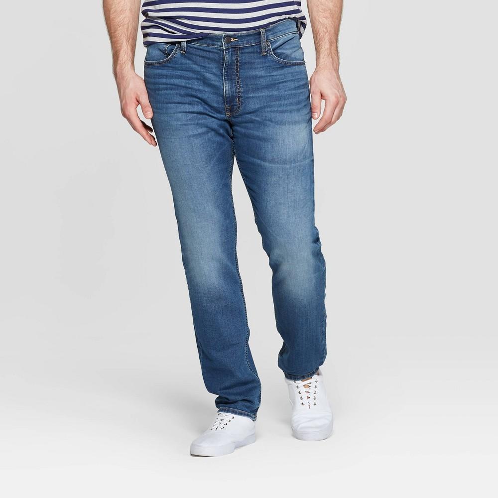 Men's Tall 36 Skinny Fit Jeans - Goodfellow & Co Denim Blue 36x36