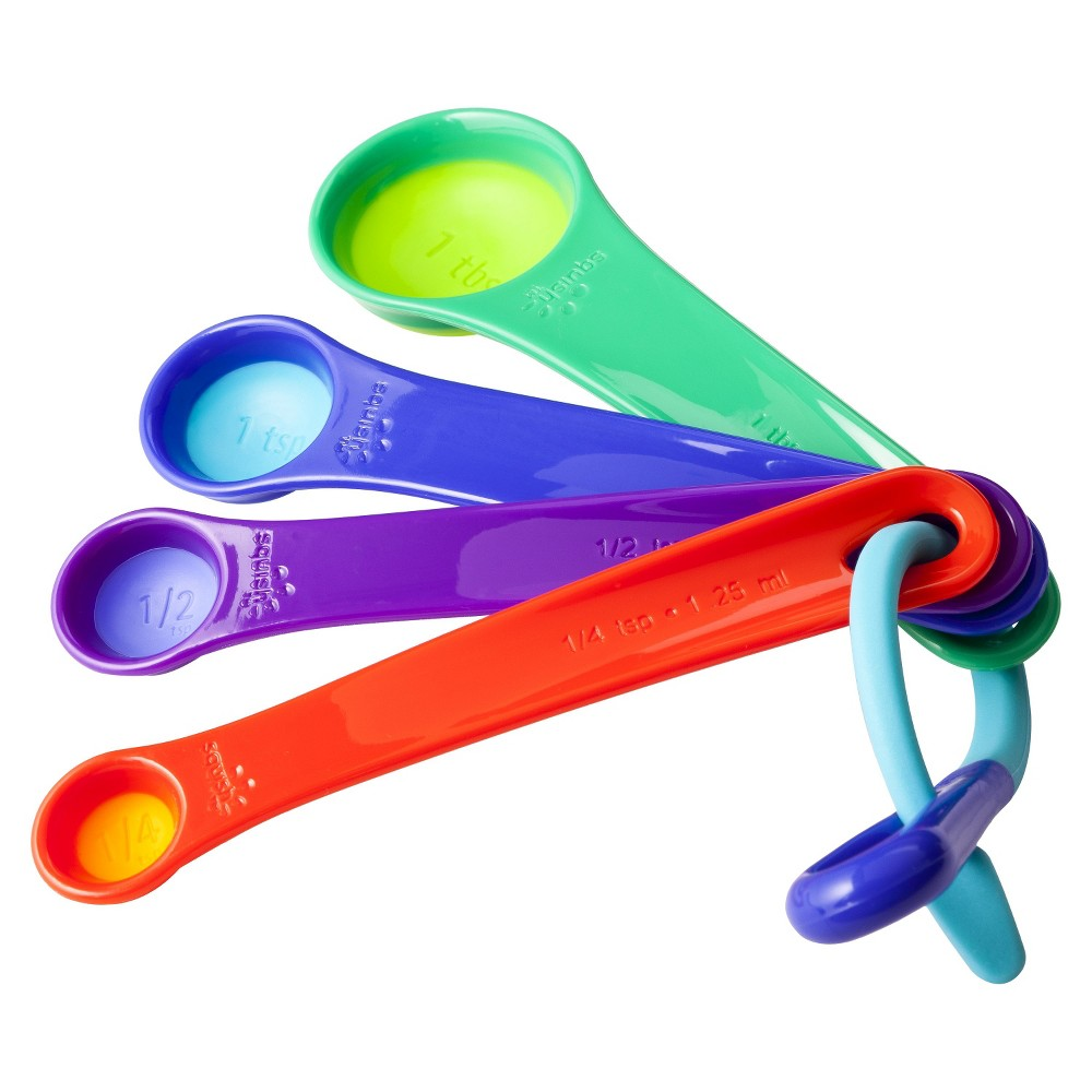 Image of Squish Measuring Spoons, Blue Purple Green