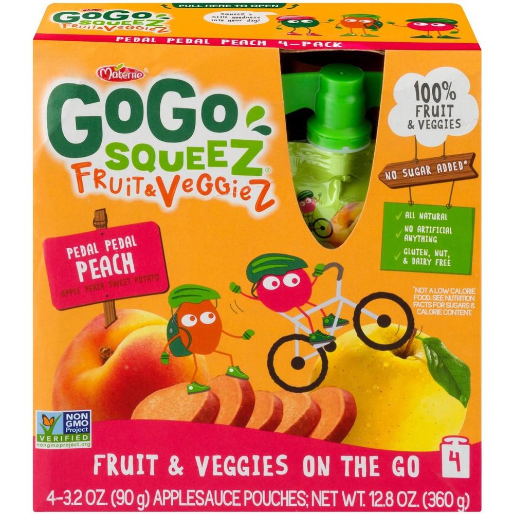 Gogo Squeez Fruit & Veggies On The Go Pedal Peach Pouches...