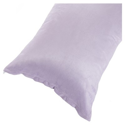 """Soft Microsuede Body Pillow Cover (51.5""""x17"""")Purple - Yorkshire Home"""