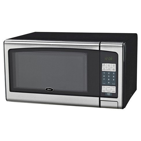 Oster 1 Cu Ft 1000 Watt Digital Microwave Oven Stainless Steel Ogj41101