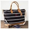 Cathy's Concepts Women's Monogram Weekender Bag - Black Stripe Q - image 2 of 3