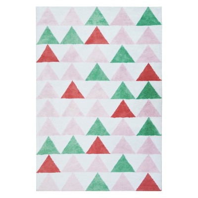 Micro Polyester Rug Triangles (4'x5'5 )- Cloud Island™ - Pink