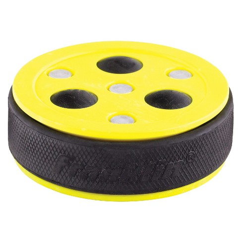 Franklin Sports NHL Roll A Puck X3 Hockey Puck - Yellow - image 1 of 3