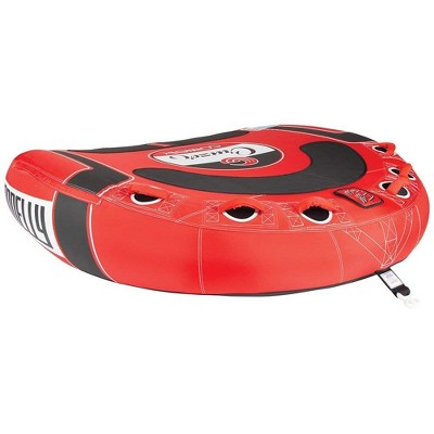 CWB Cruzer 3 RiderInflatable Concave Deck Water Towable Tube, Red