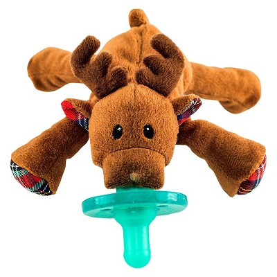 WubbaNub Reindeer Pacifier - Brown