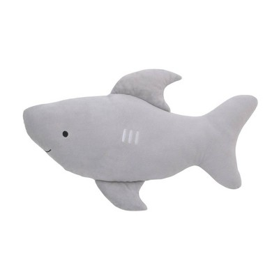 Little Love By NoJo Shark Shaped Throw Pillow with 3D Fins - Gray