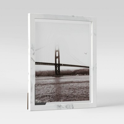 """8"""" x 10"""" Faux Marble Table Frame Gray - Project 62™"""