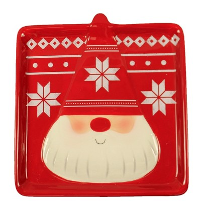 "Tabletop 7.75"" Gnome Plate Earthenware Christmas Ganz  -  Dining Plates"