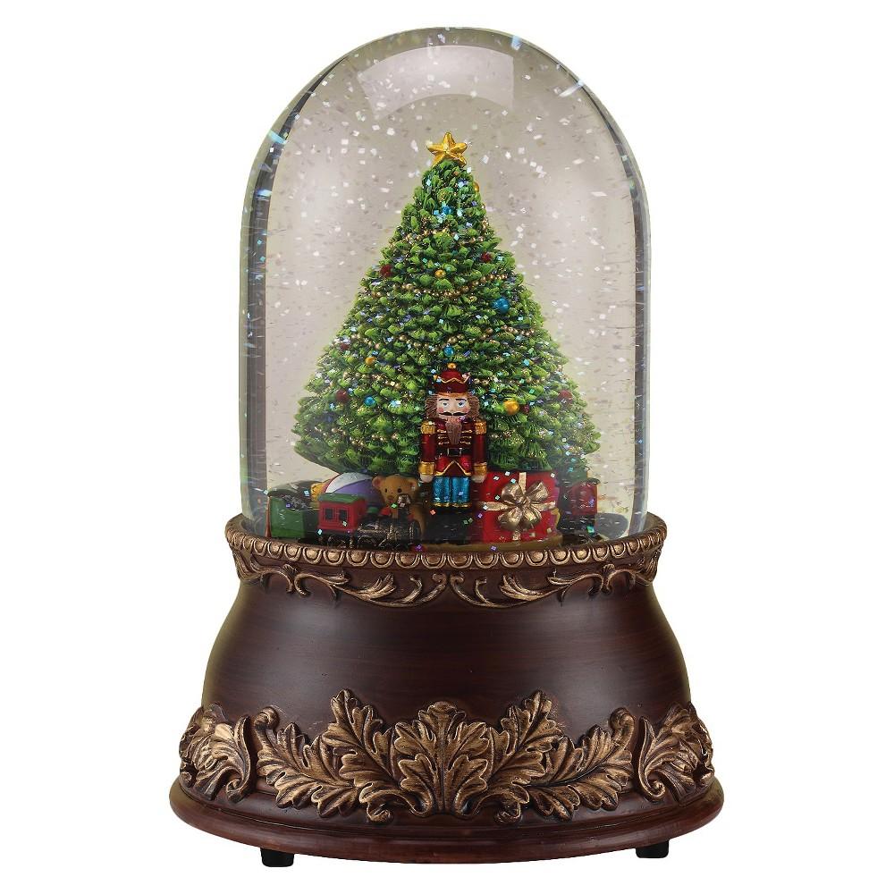 Nutcracker/Christmas Tree Musical Snowglobe, Multi-Colored