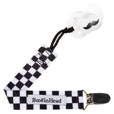 PaciGrip Pacifier Clip – Black/White Skater