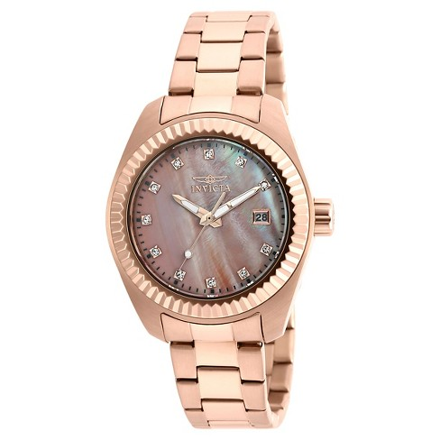 Women's Invicta 20353 Specialty Quartz 3 Hand Rose Gold Dial Link Watch - Rose Gold - image 1 of 1