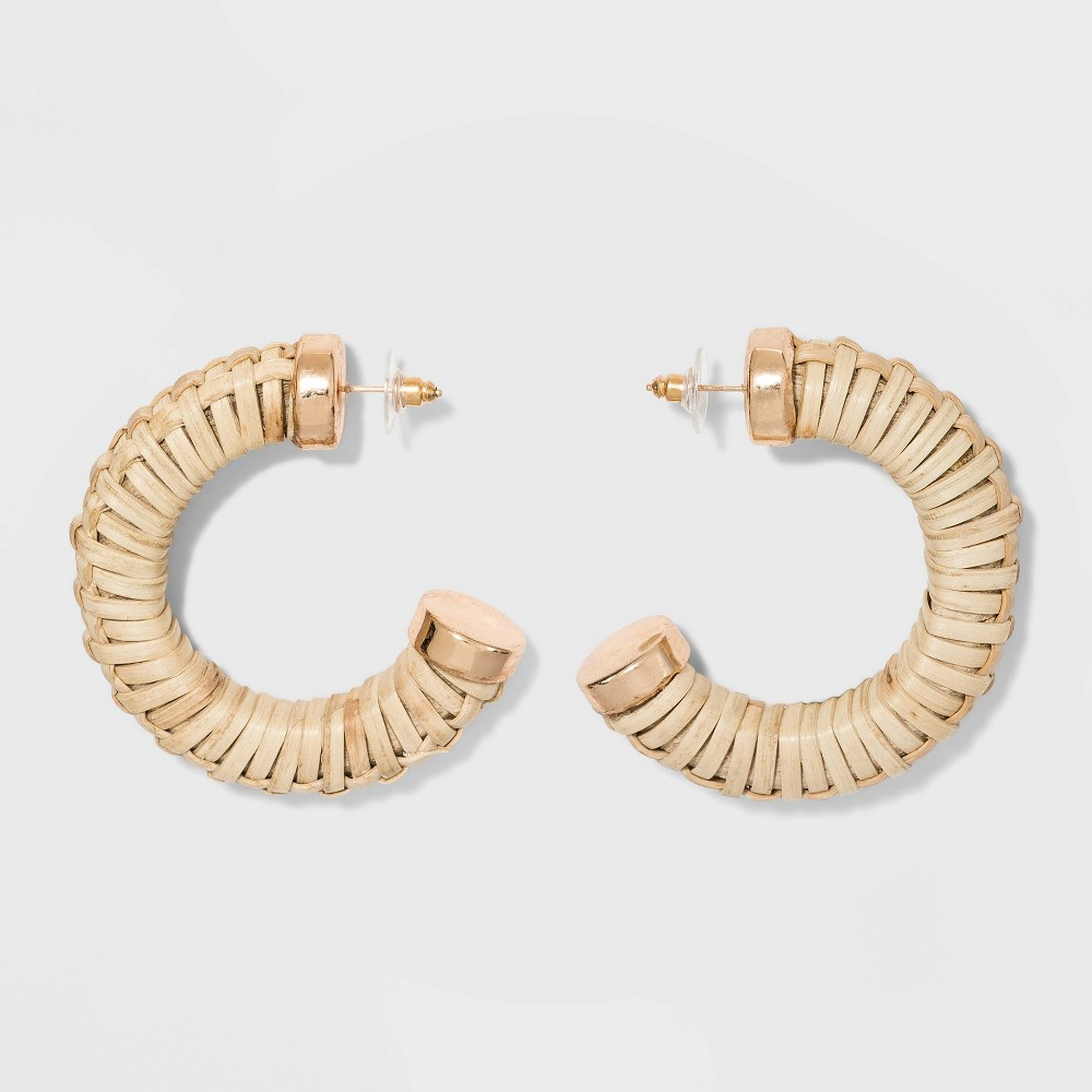 2c8bcac730e0c Straw Hoop Earrings A New Day Natural
