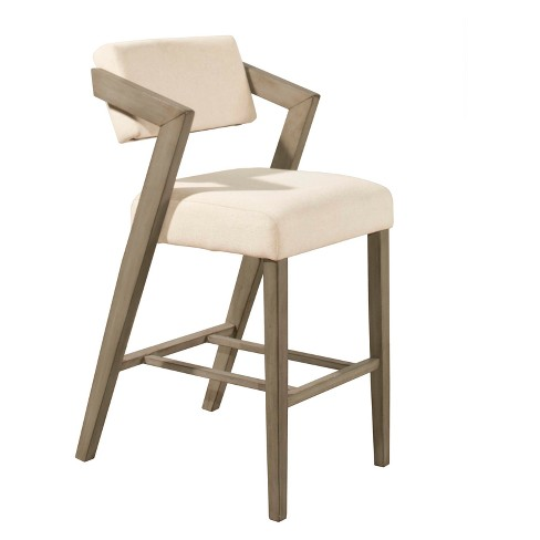 36 Quot Snyder Nonswivel Bar Stool Aged Gray Ecru Hillsdale