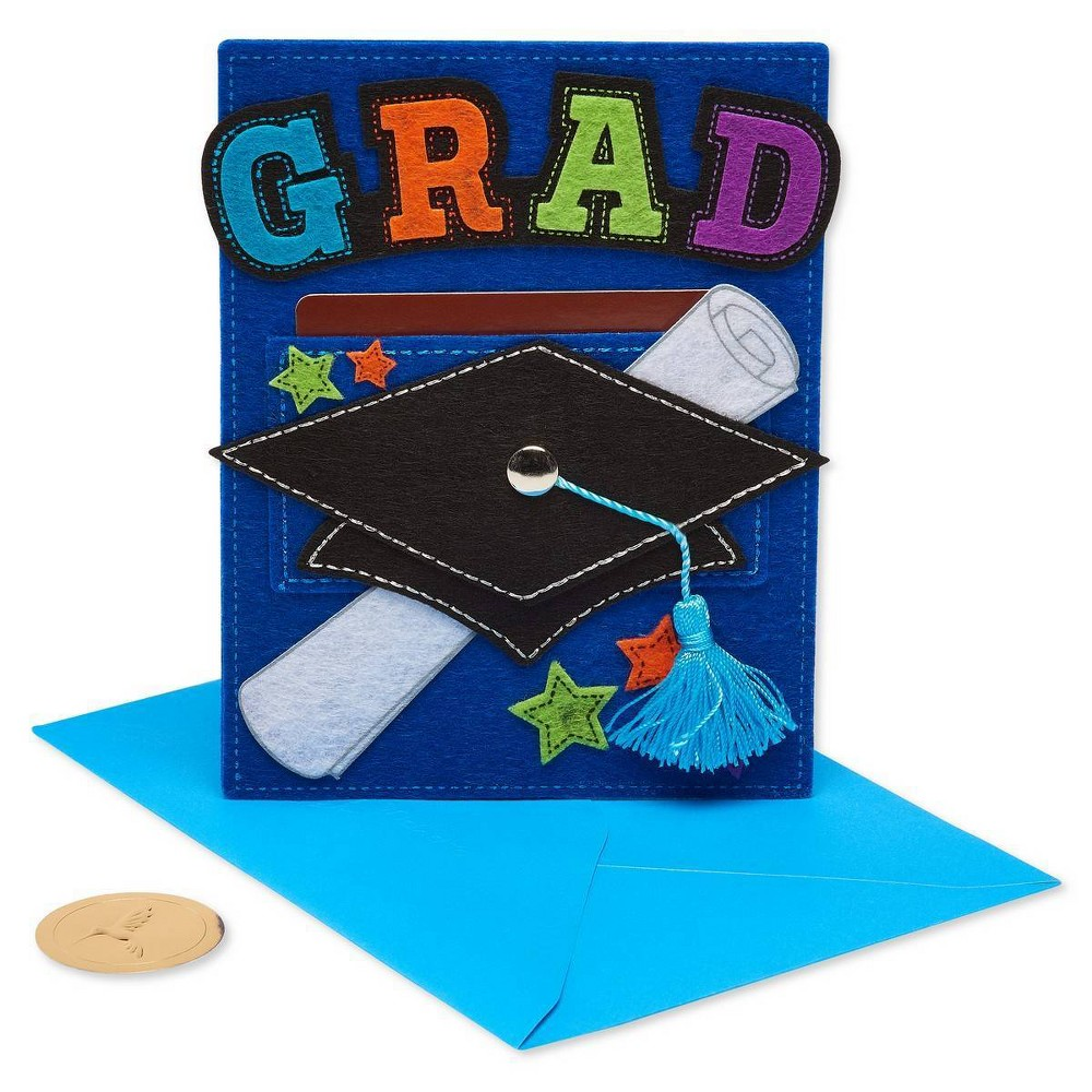 Papyrus Graduation Gold Embossed Mortar Board Card