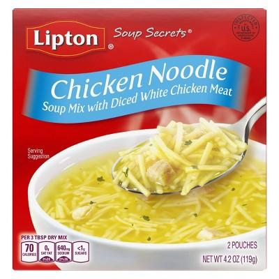 Lipton Soup Secrets Chicken Noodle Soup Mix - 4.2oz/2pk