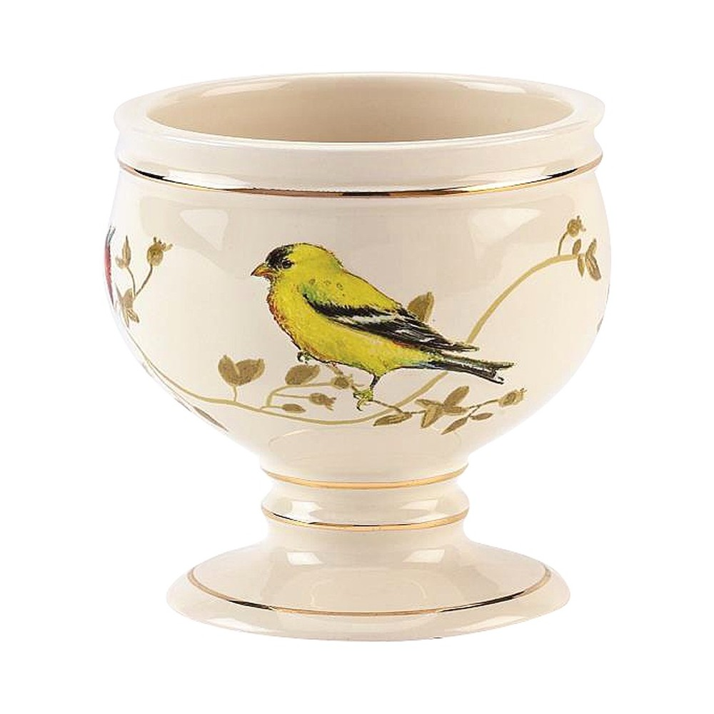 Avanti Gilded Birds Tumbler - Ivory, Beige