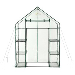 Deluxe Walk - In 3 Tier 6 Shelf Portable Greenhouse - Light Clear - Ogrow