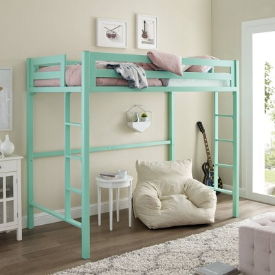 Twin Premium Deluxe Metal Loft Bed - Saracina Home