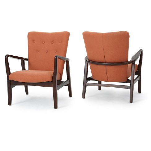 Becker Upholstered Arm Chair (Set of 2) - Christopher Knight Home - image 1 of 4