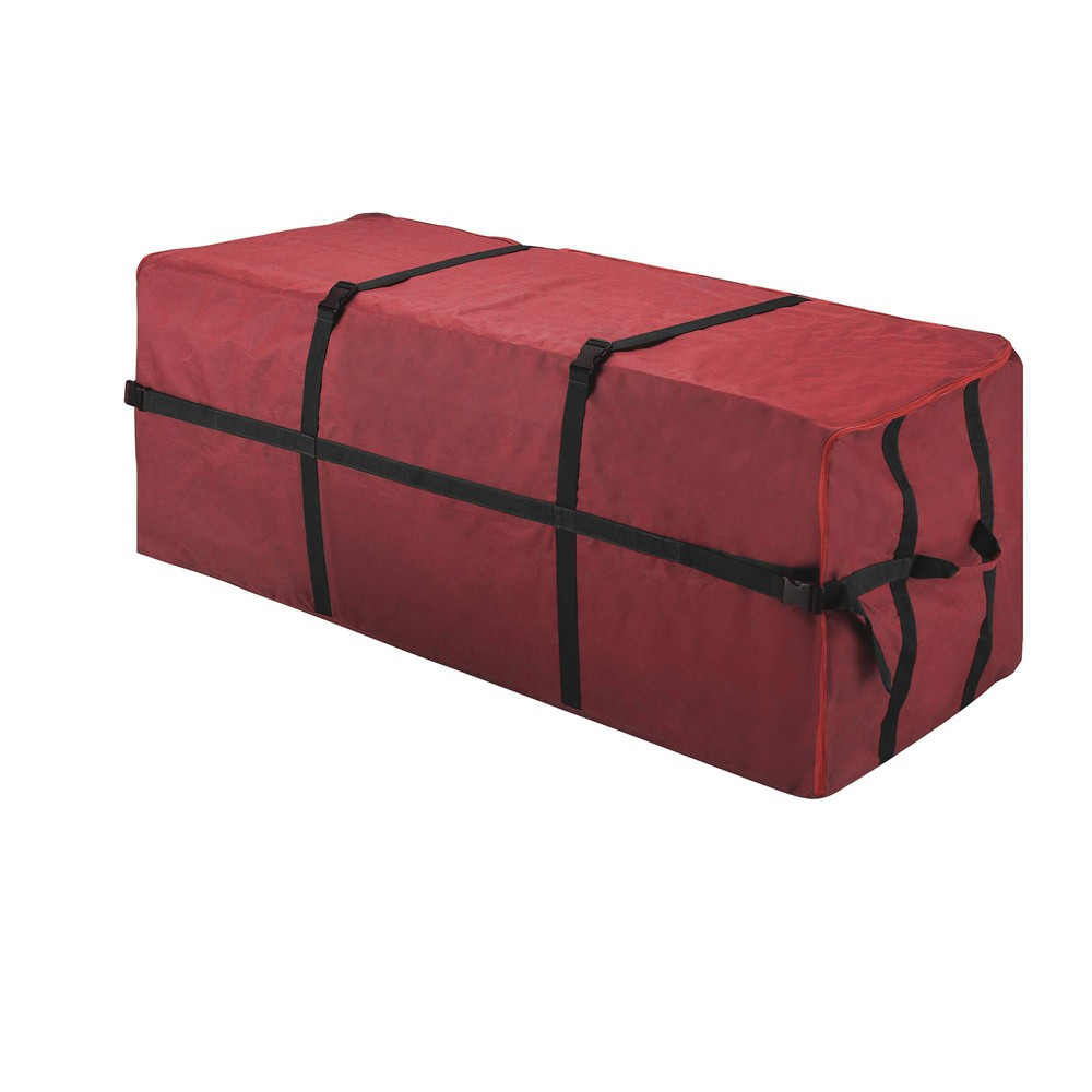 Image of 7.5' Heavy Duty Canvas Christmas Tree Storage Bag Large - Elf Stor, Red