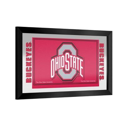 NCAA Ohio State Buckeyes Team Logo Wall Mirror