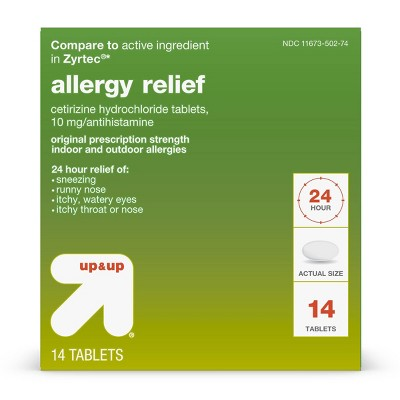 Cetirizine Hydrochloride Allergy Relief Tablets - up & up™