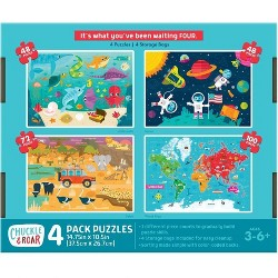 Chuckle & Roar 4pk Jigsaw Puzzles 268pc