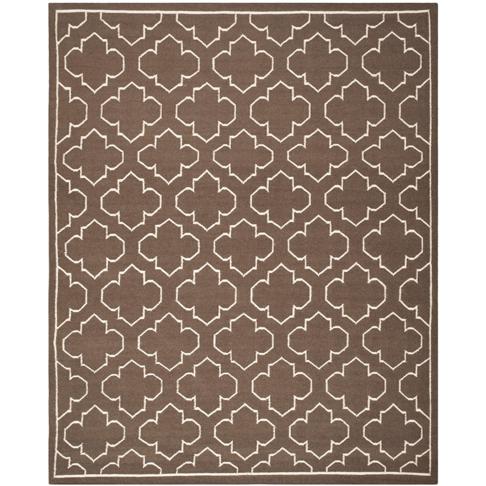 8'X10' Woven Quatrefoil Design Area Rug Brown - Safavieh, Brown/Ivory