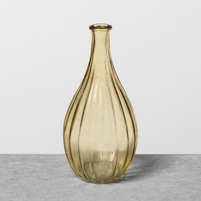 Glass Vase Yellow - Hearth & Hand™ with Magnolia
