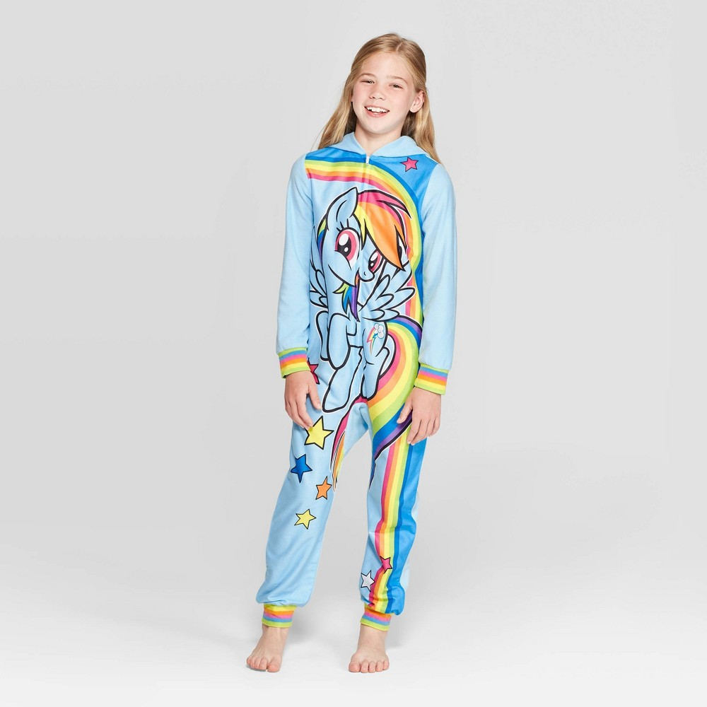 Image of Girls' My Little Pony Blanket Sleeper Union Suit - Blue L, Girl's, Size: Large