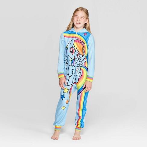 Girls' My Little Pony Blanket Sleeper Union Suit - Blue : Target