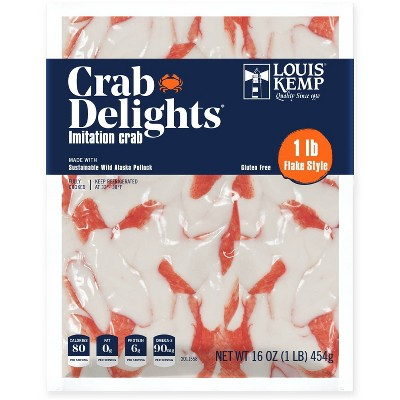 Louis Kemp Crab Delights Imitation Crab Flake Style - 16oz