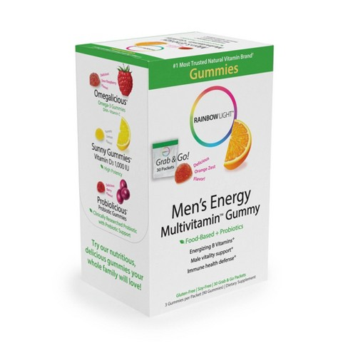Rainbow Light Men's Energy Multivitamin Dietary Supplement Gummies - Orange  - 30pk