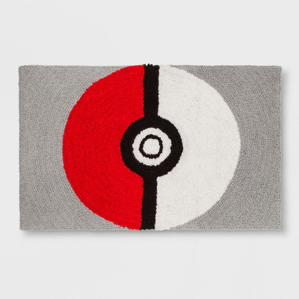 "Image of ""Pokemon Shaggy Pokeball 2'5""""x4' Elevated Rug"""