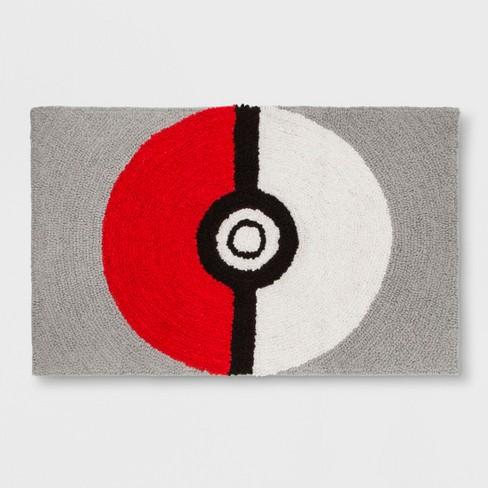"Pokemon Shaggy Pokeball 2'5""x4' Elevated Rug - image 1 of 2"