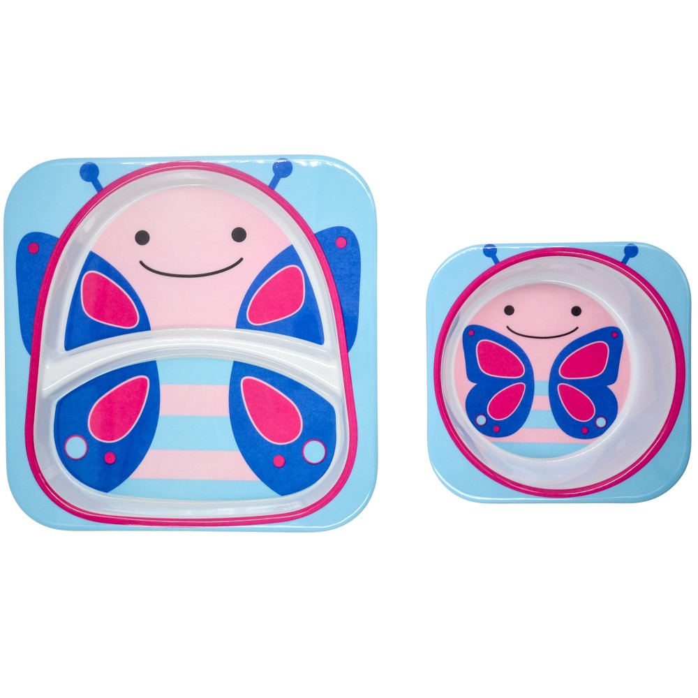 Image of Skip Hop 2pc At Home Plate and Bowl Set - Butterfly