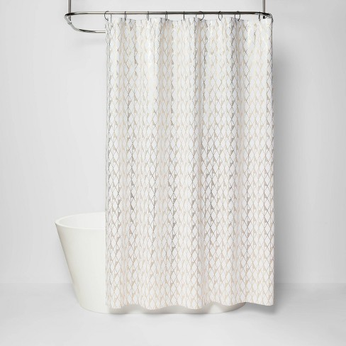 Diamond Shower Curtain White Project, Target Bathroom Shower Curtains