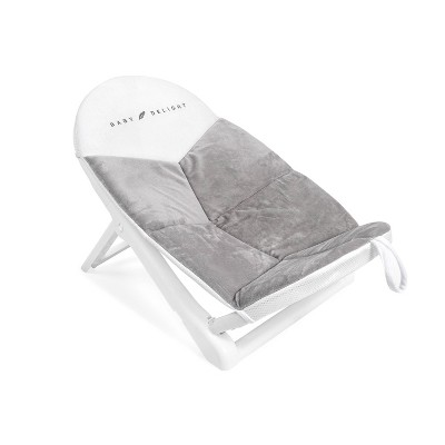 Baby Delight Cushy Nest Cloud Premium Infant Bather - Gray/White