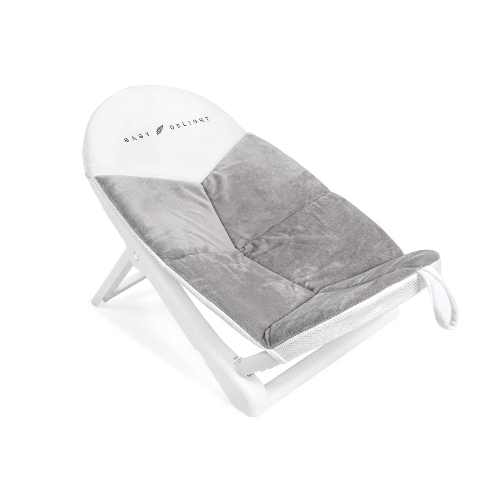 Image of Baby Delight Cushy Nest Cloud Premium Infant Bather - Gray/White