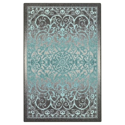 7'X10' Scroll Tufted Area Rug Gray - Maples
