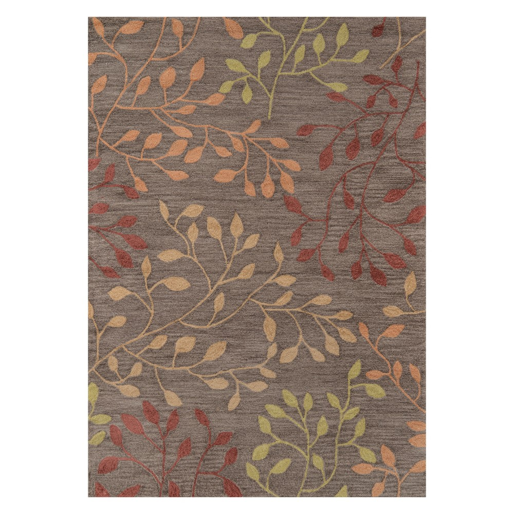 5'X7'6 Floral Tufted Area Rug Brown - Momeni
