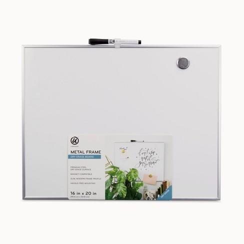 ubrands aluminum frame magnetic dry erase board 16 x 20 target
