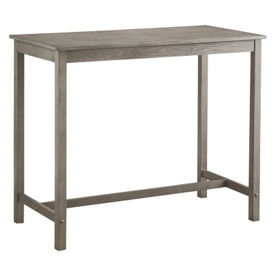 Charmant Counter Height Pub Table Hardwood Gray Wash   Threshold™