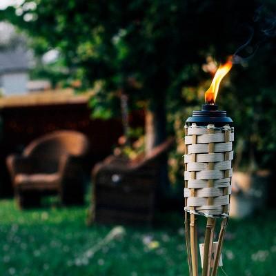 Luau Bamboo Torch Tan - TIKI
