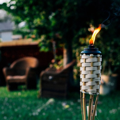 Luau Bamboo Torch Tan - TIKI - image 1 of 3